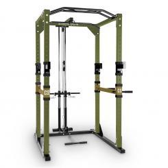 Tremendour Pl Power Rack Homegym Latzug Stahl grün braun Grün