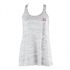 Trainings-Top für Frauen Size M Weiß marmoriert Weiß   M