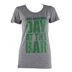 Trainings-T-Shirt für Frauen Size L Grau meliert Grau   L