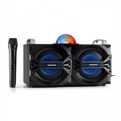 DisGo Box 265 Party-Lautsprecher Akku Bluetooth USB MP3 UKW LED-Lichteffekt