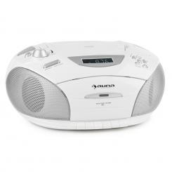 RCD 220 Boombox CD USB Kassettendeck PLL-UKW-Radio MP3 weiß Weiß