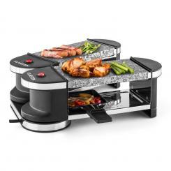 Tenderloin Mini Raclette-Grill 600W 360°-Basis 2 heiße Steine