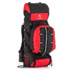 Almer Trekking-Rucksack 80l 40x80x35 cm Daypack rot/schwarz Rot