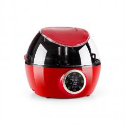 VitAir Twist Heißluftfritteuse Multifunktions-Kochautomat 1230 W rot Rot