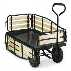 Ventura Handwagen Bollerwagen Schwerlast 300 kg Stahl schwarz