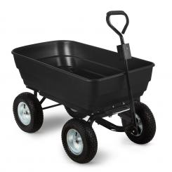 Black Elephant Gartenwagen 125 l 400 kg kippbar schwarz Schwarz