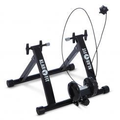 Tourek Fahrrad Rollentrainer Heimtrainer 26/28 Zoll 100kg Stahl schwarz Schwarz