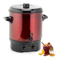 Biggie Einkochautomat Edelstahl 27 Liter 2000W Timer rot