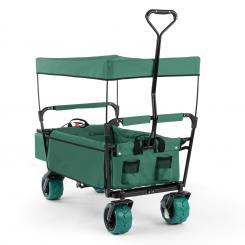 The Green Supreme Bollerwagen Handwagen faltbar 68kg Sonnendach