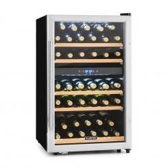 Vinamour 40D Weinkühlschrank 2 Zonen 135 L 41 Flaschen Edelstahlfront