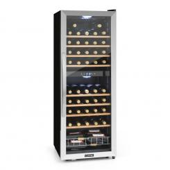 Vinamour 54D Weinkühlschrank 2 Zonen 148 l 54 Flaschen Edelstahlfront