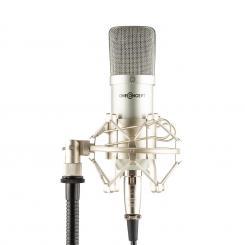 Mic-700 Studio-Mikrofon Ø34mm Uni Spinne Windschutz XLR silber Silber