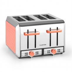 Curacao Coral Toaster 4 Scheiben Edelstahl 1500 Watt Koralle