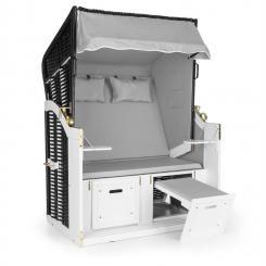 Hiddensee Strandkorb XL 2-Sitzer Volllieger grau