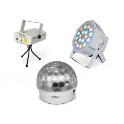 BAT-KIT Lichteffekt-Set Liberty Astro-Effekt Firefly Laser PAR-Strahler
