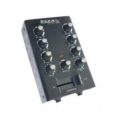 MIX500 2-Kanal-Mini-Mischpult Mixer 2-Band Equalizer schwarz