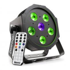 BFP110 FlatPAR 3-in1-LED-Strahler 5x 6W RGB-LEDs DMX IR-Fernbedienung