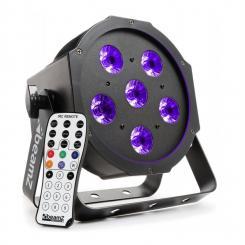 BFP130 FlatPAR LED-Strahler 6x 6W UV-LEDs DMX IR-Fernbedienung