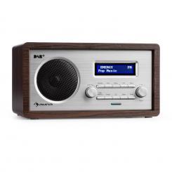 Harmonica DAB+/UKW - Radio Dual-Alarm Aux LCD Holzgehäuse Wenge