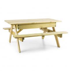 Zaubersand Kinder-Picknick-Tisch Spieltisch Sandkasten Kiefer-Echtholz