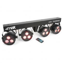 LED PAR-Bar-Set 4-Wege-Kit 3x 4-in-1-LED RGBW inkl. T-Balken und Stativ