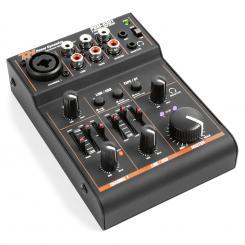 PDM-D301 3-Kanal-Mixer USB-Mischpult 2-Wege-Equalizer