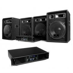 """DJ PA Set """"Marrakesch Lounge Pro"""" 2x Verstärker 4x Boxen"""