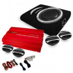 """Car Hifi Set """"Rom """" 4.1 System 3000W Bass, Boxen, Verstärker"""