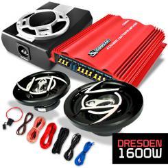 "Car Hifi Set ""Dresden"" 2.1 System 1600W Endstufe Bass Boxen"