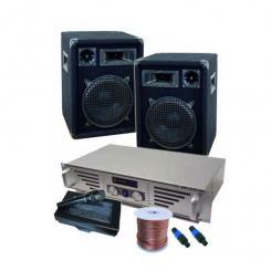"DJ- und PA Komplett-Set ""Boston Rockit"" Verstärker Boxen"