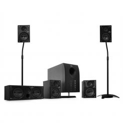 Areal 525 BK 5.1 Heimkino Lautsprecher Surround System Stativ Flash