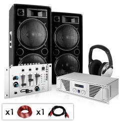 "DJ-PA Set ""N.Y. Fireblade"" Verstärker,Boxen,Mixer 2000W"