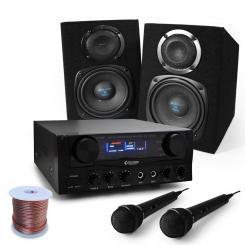 """Karaoke Set """"Rio Rumble"""" Boxen, Mikrofon, 400W"""