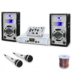 "DJ PA Set ""Polar Fox"" Mixer Amp Boxen 1500W"