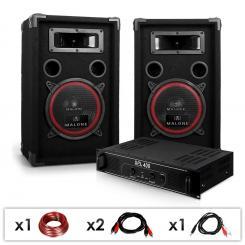 """DJ PA Set """"DJ-12"""" PA-Verstärker, Lautsprecher"""