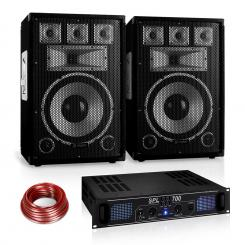 "PA Set Saphir Series ""Warm Up Party"" 12PLUS mit Paar Boxen & Verstärker 700W"