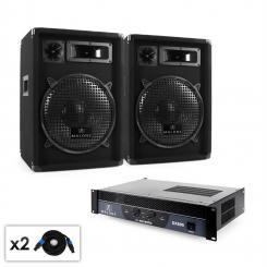 "DJ PA Set Malone 2.0 ""Club"" mit Verstärker, LAutsprecher & Kabel 800W"