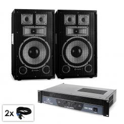 "PA Set Saphir Series ""Warm Up Party TX10"" Paar 25cm Boxen & Verstärker 1200W"