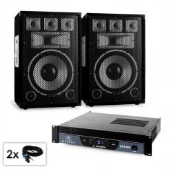 "PA Set Saphir Series ""Warm Up Party TX12"" Paar 12"" Boxen & Verstärker 1500W"