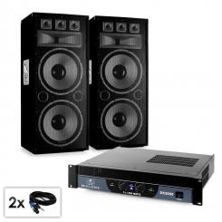 "PA Set Saphir Series ""Warm Up Party TX215""Paar 2x38cm Boxen & Verstärker 3000W"