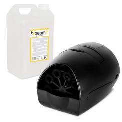 B100 portable Seifenblasenmaschine + 5l Beamz Seifenblasen-Fluid