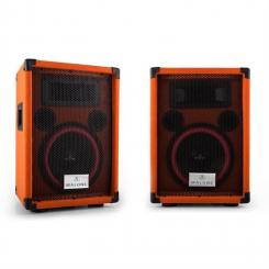 "Beatamine-C Paar PA-Boxen 20cm 8"" 150W RMS 300W max. orange"