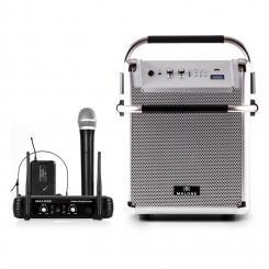 Rock Fortress PA-Anlage + UHF 250 Funkmikrofon-Set Mikro Headset