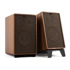 Retrospective 1978 Active Lautsprechersystem walnuss Cover schwarz-braun
