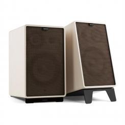 Retrospective 1978 Active Lautsprechersystem weiß Cover schwarz-braun