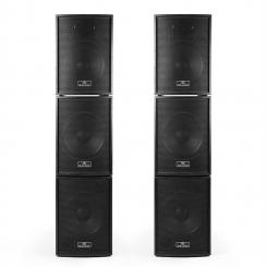 Black Box 6 aktives PA-Boxen Set 4xSubwoofer 2xSatelliten inkl. PA-Kabeln