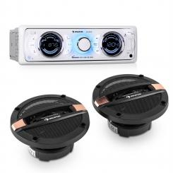MD-170-BT Car-Hifi-Set Autoradio + 4-Wege-Auto-Lautsprecher MP3 USB SD BT