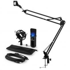 MIC-900B-LED USB Mikrofonset V3 Kondensatormikrofon + Mikrofonarm Niere LED