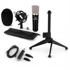 CM003 Mikrofon-Set V1 Kondensatormikrofon USB-Konverter Mikrofonstativ