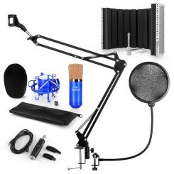 CM001BG Mikrofon-Set V5 Kondensator USB-Adapter Mikroarm POP-Schutz Schirm